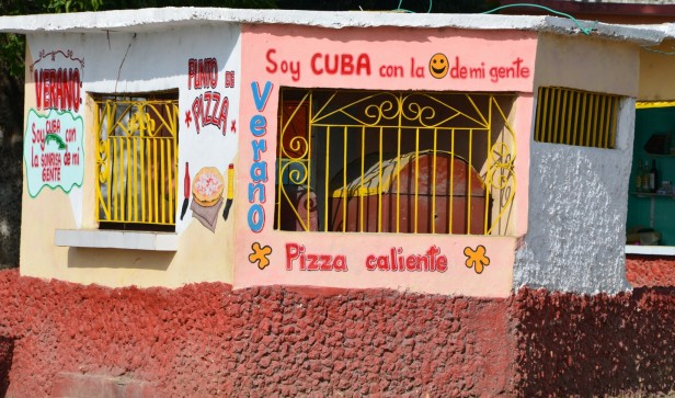 Colourful Cuban buildings