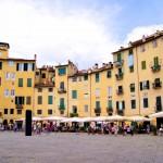 Piazza dell' anfiteatro square in Lucca