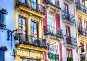 Colourful buildings, Valencia