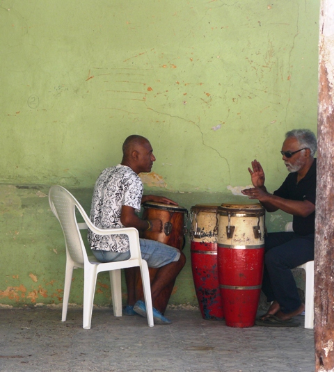 Cuban conga lesson