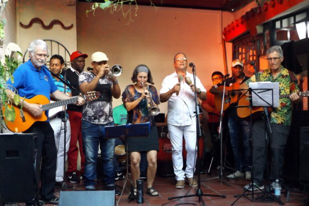 Cuban musicians on stage