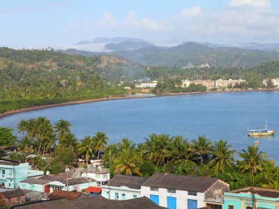 aerial view of the Baracoa bay