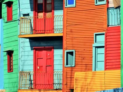 La Boca colourful houses, Buenos Aires