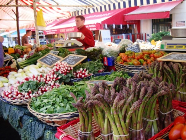 Food and flower market in Nice old town