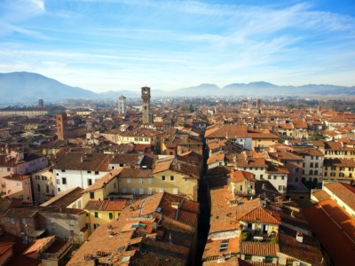 panoramic view of lucca