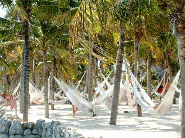 Hammocks, Playa del Carmen, Mexico