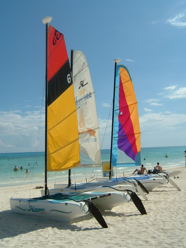 Windsurfing, Playa del Carmen, Mexico
