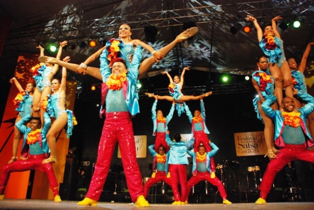 Dancers in a Cali stage show