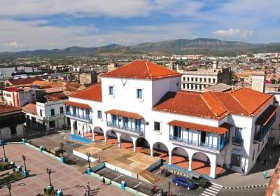 City hall and main square in Santiago de Cuba