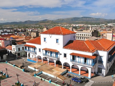 City hall and main square in Santiago de Cuba