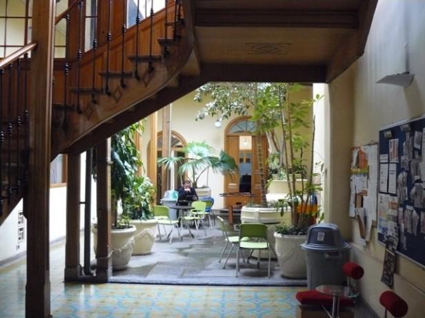 Spanish school patio, Bogota, Colombia