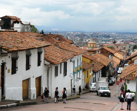 La Candelaria area in downtown Bogota