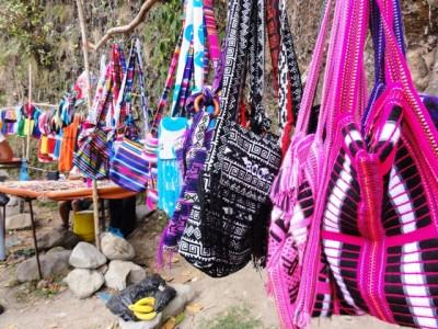 colourful woven bags, ecuador