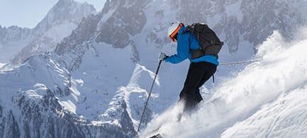 Skiing slider image.