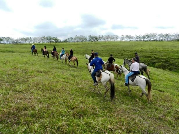 Horseback riding through Colombian countryside