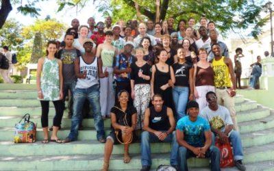 Group of people on stairs, Santiago de Cuba