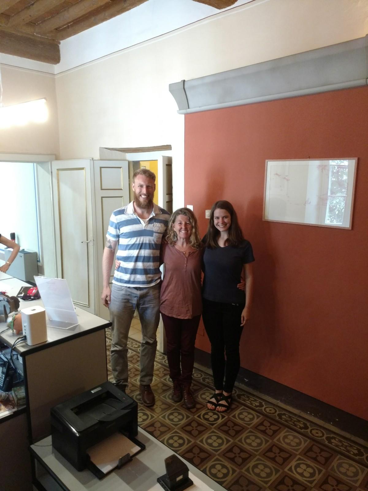 students with Italian teacher