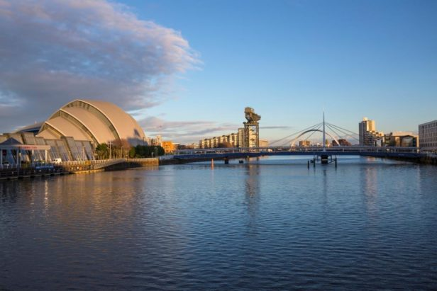 Glasgow River Clyde and the SECC