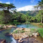 Clear blue pools and green trees - Soroa