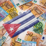 facemask with cuban flag and banknotes