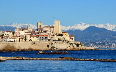 view of Antibes old town and sea