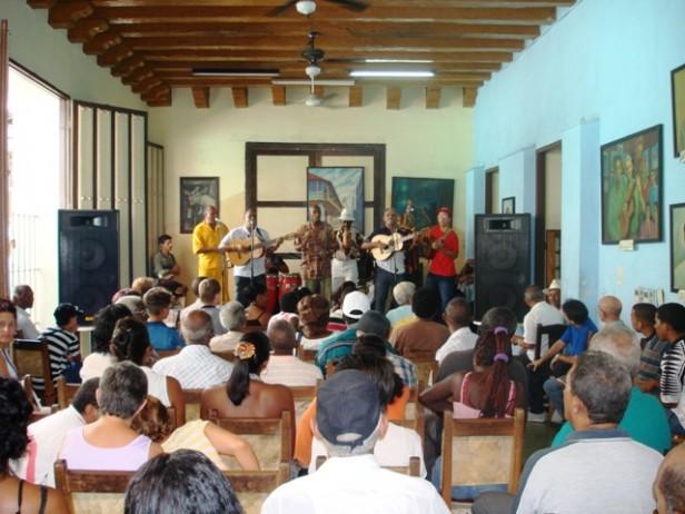 A music concert in Casa de la Trova, Cuba