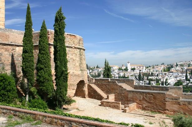 Walls of alcazar Granada