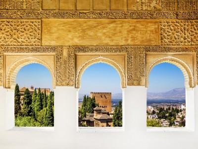 Alhambra palace windows Granada