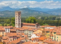 View of Lucca over the rooftops