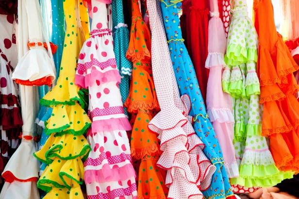 Colourful gypsy dresses