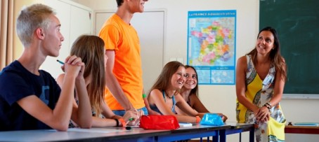 Teenagers in class