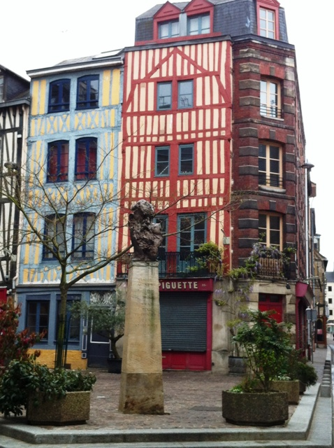 Timbered houses in a city street